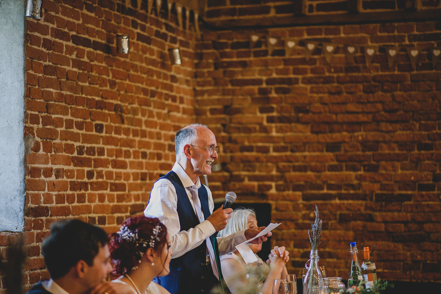 bride's father giving speech at godwick