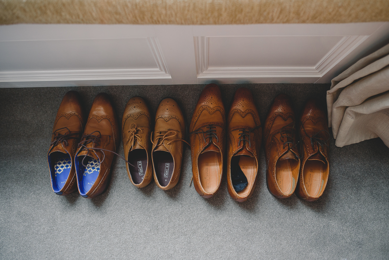 shoes lined up at godwick barn