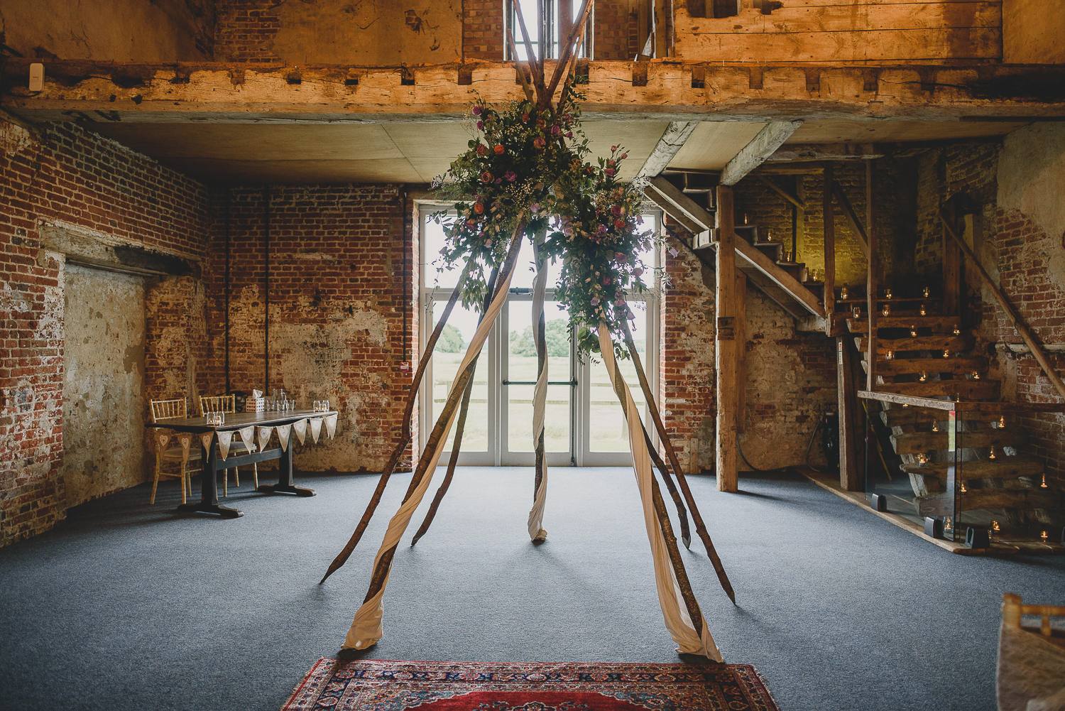 naked tipi by little lending co decorated with flower30 flowers