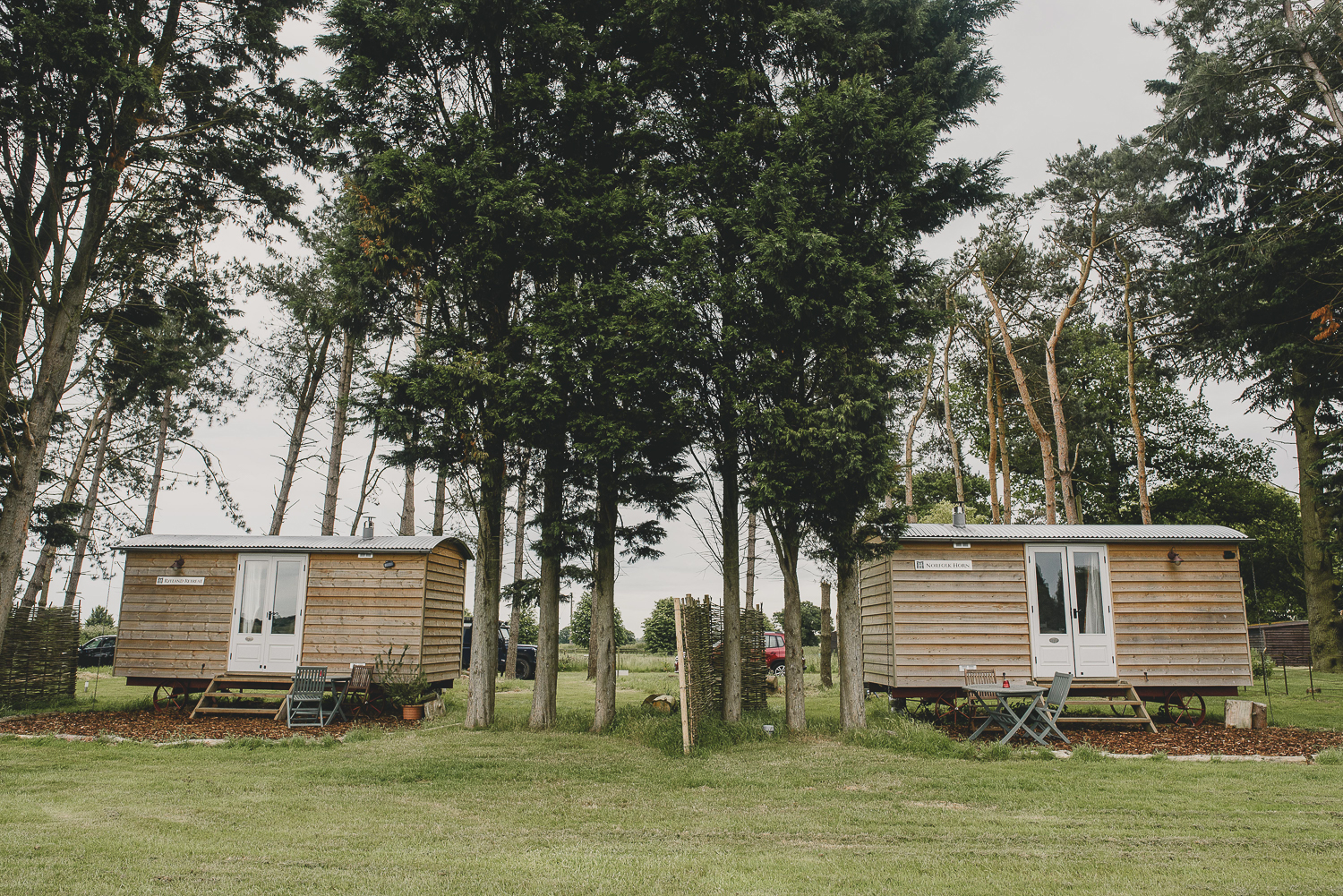 shepherds huts at godwick barn