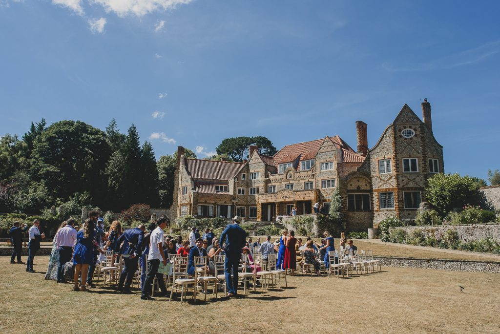 guests waiting for the bride at voewood norfolk