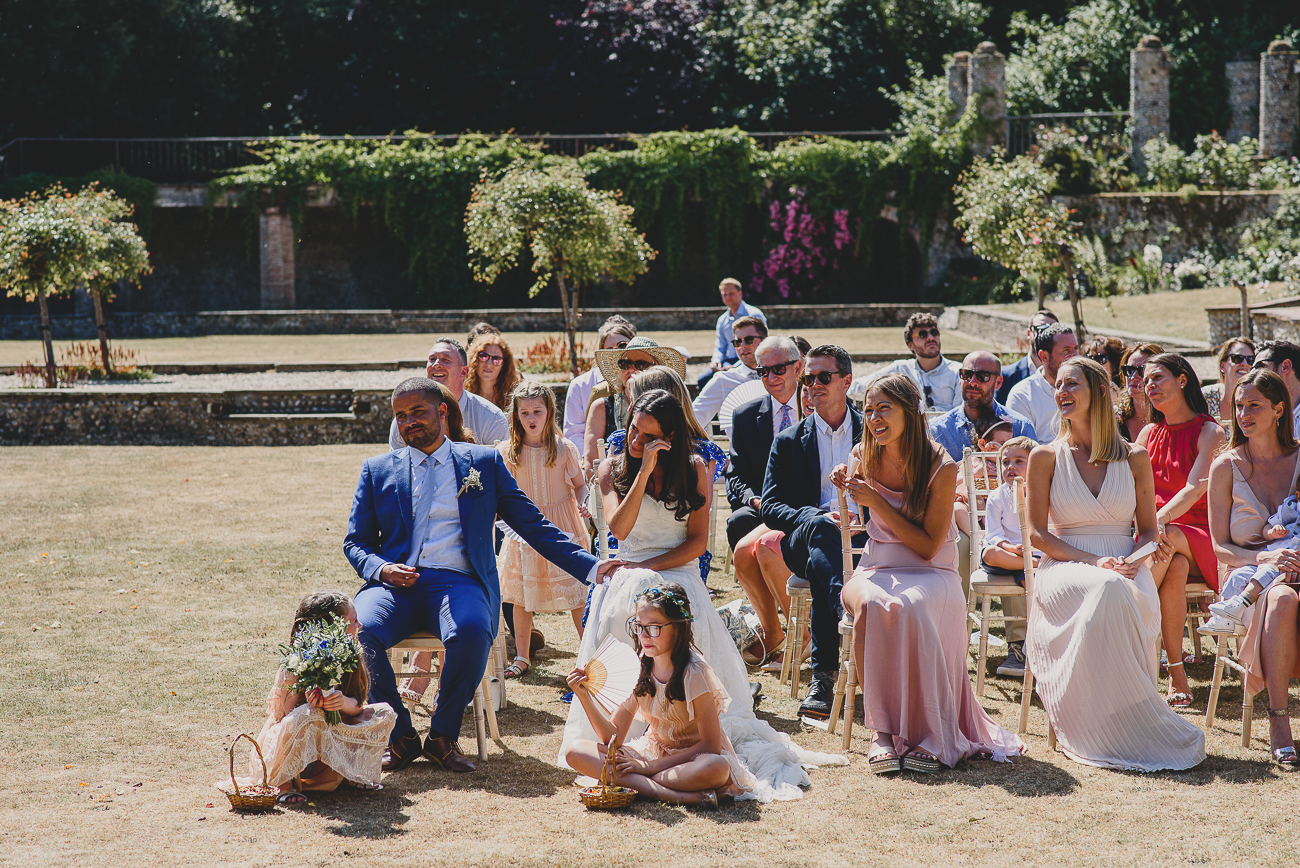 outdoor ceremony under the sun at voewood