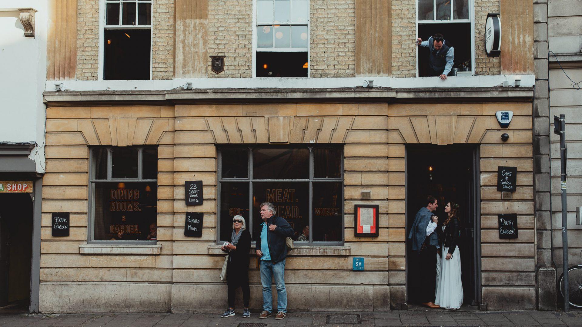 cambridge city pub wedding by georgia rachael
