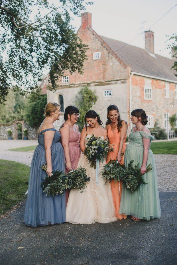 norfolk wedding photographer college farm bridesmaids