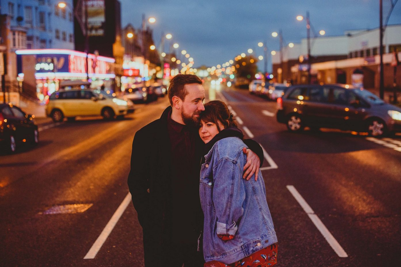 couple standing in great yarmouth seafront