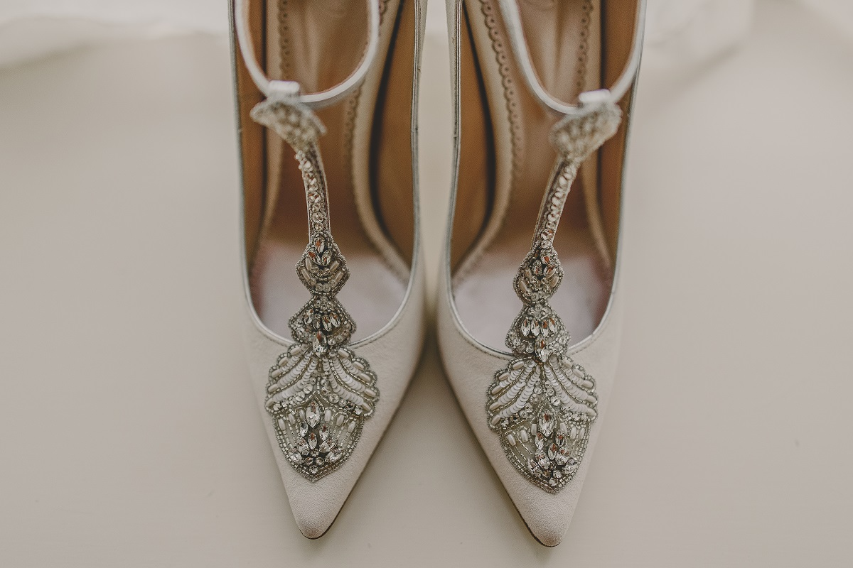 bridal shoes at elms barn