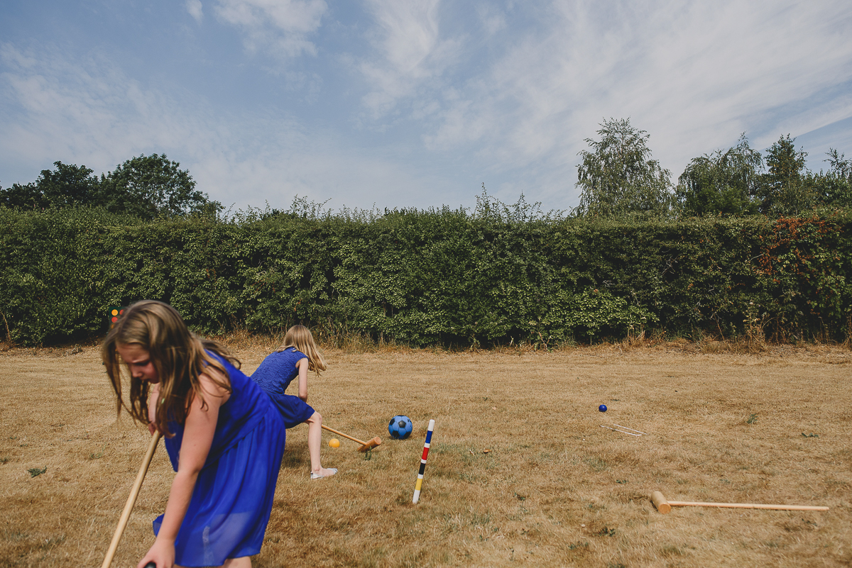 children at wedding playing polo hautbois hall