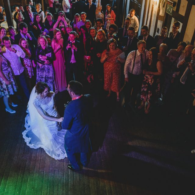 first dance at priory hall from above