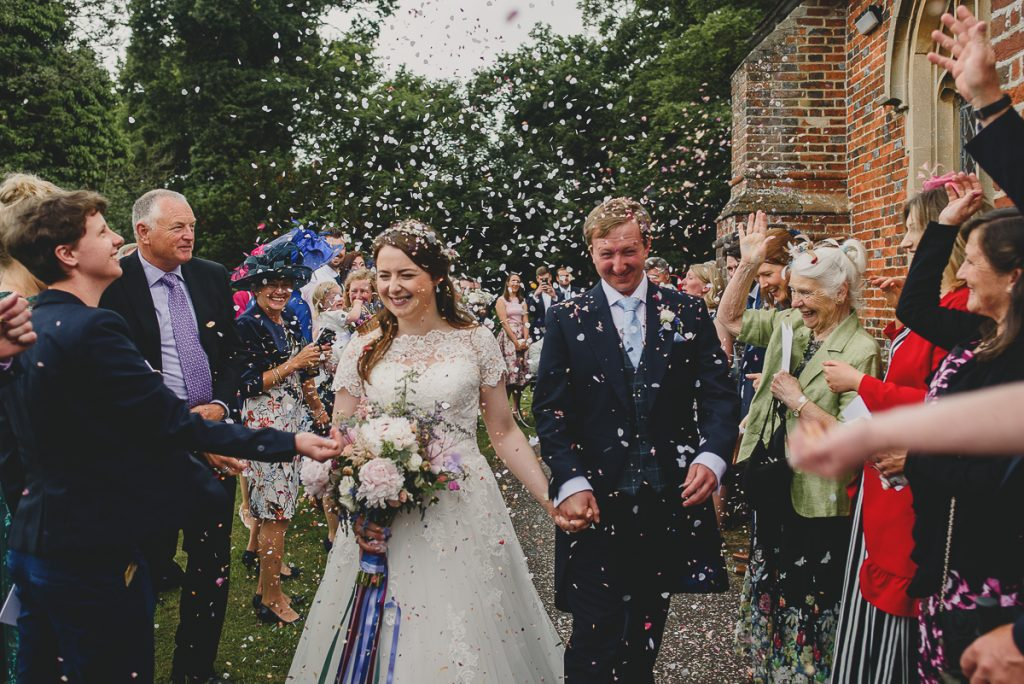 confetti exit from church in coltishall
