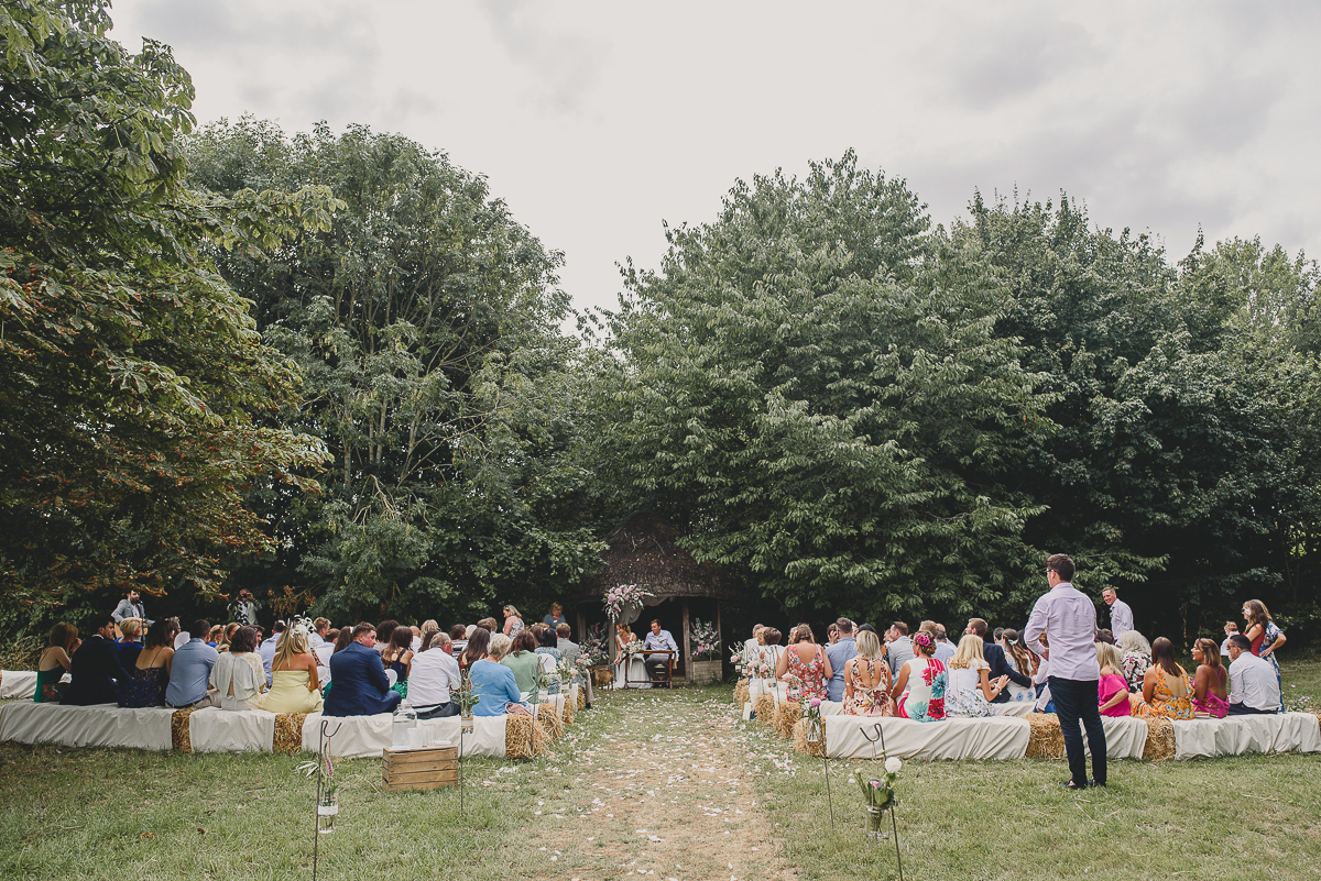 scenic view of outdoor ceremony in suffolk