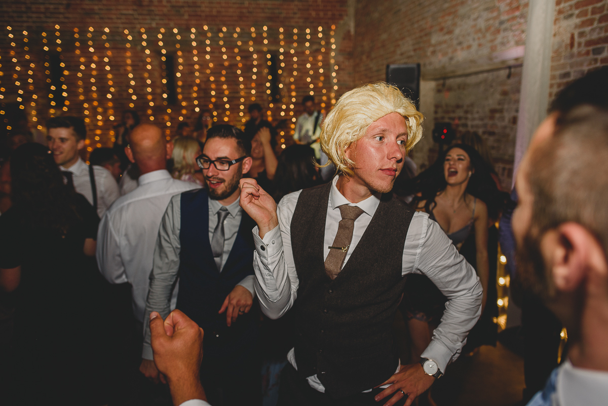groom dancing at spixworth hall