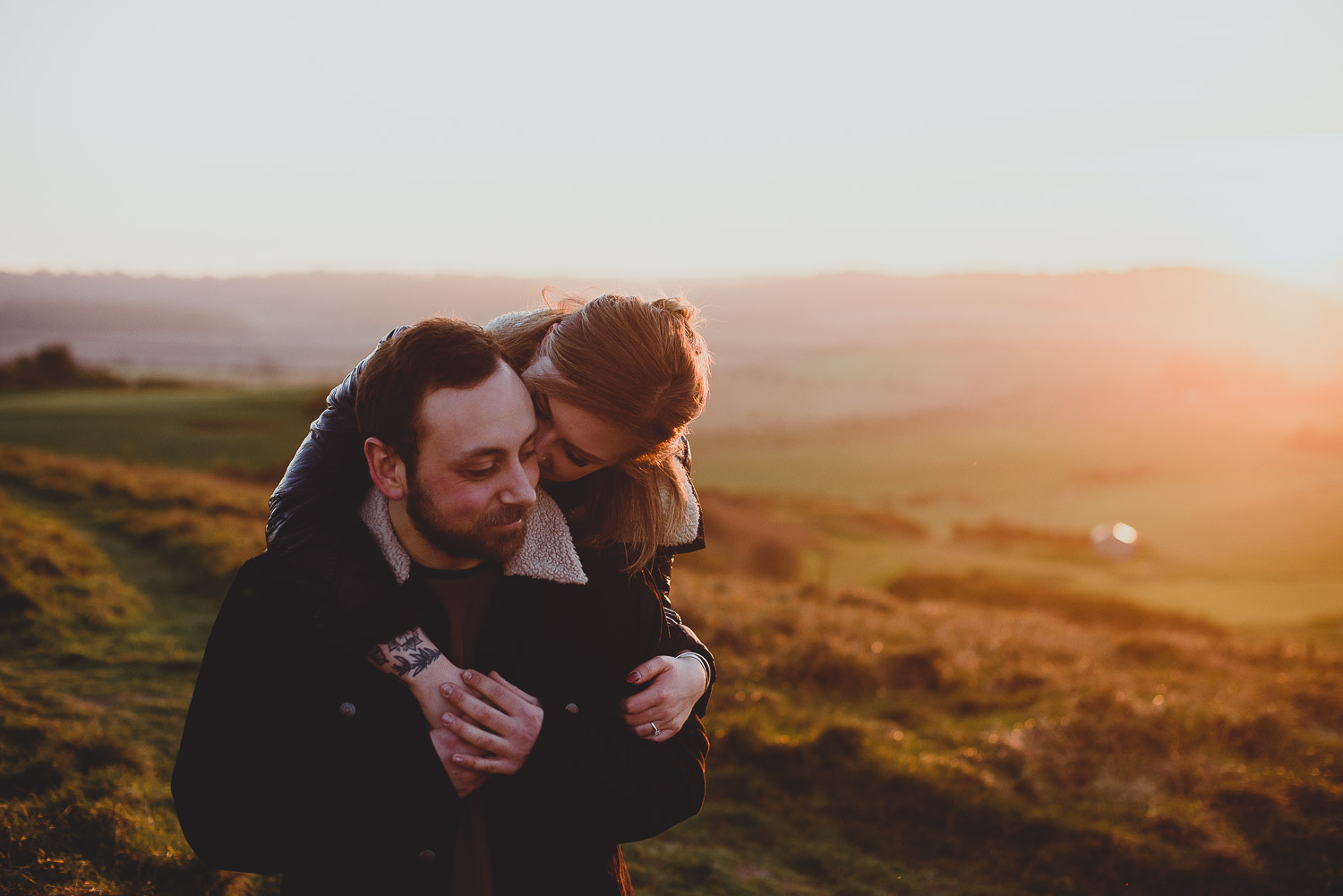 sheringham engagement session by georgia rachael