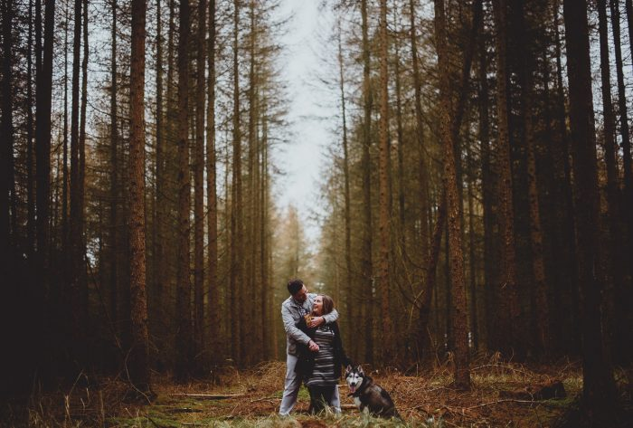 thetford forest engagement by georgia rachael