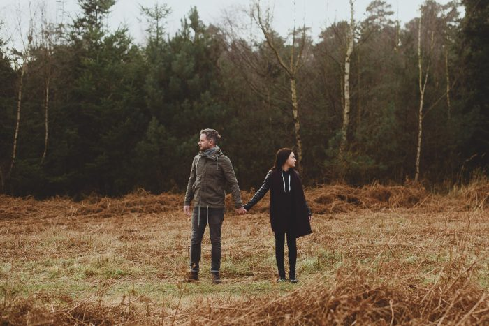 thetford forest engagement session by georgia rachael photography