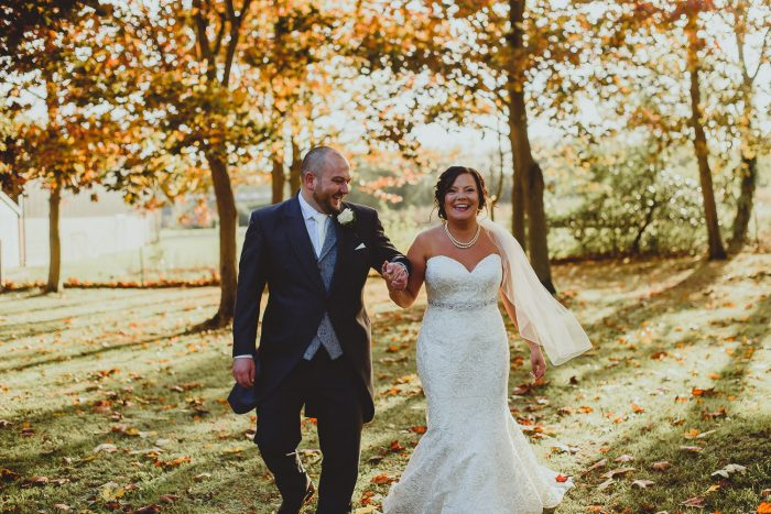 elms barn autumn wedding