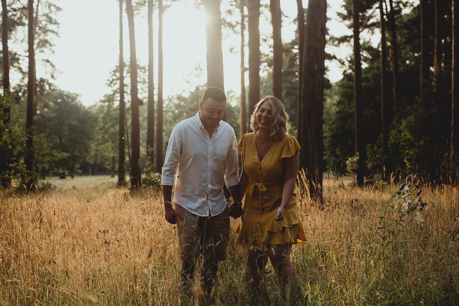 thetford forest engagement by georgia rachael photography