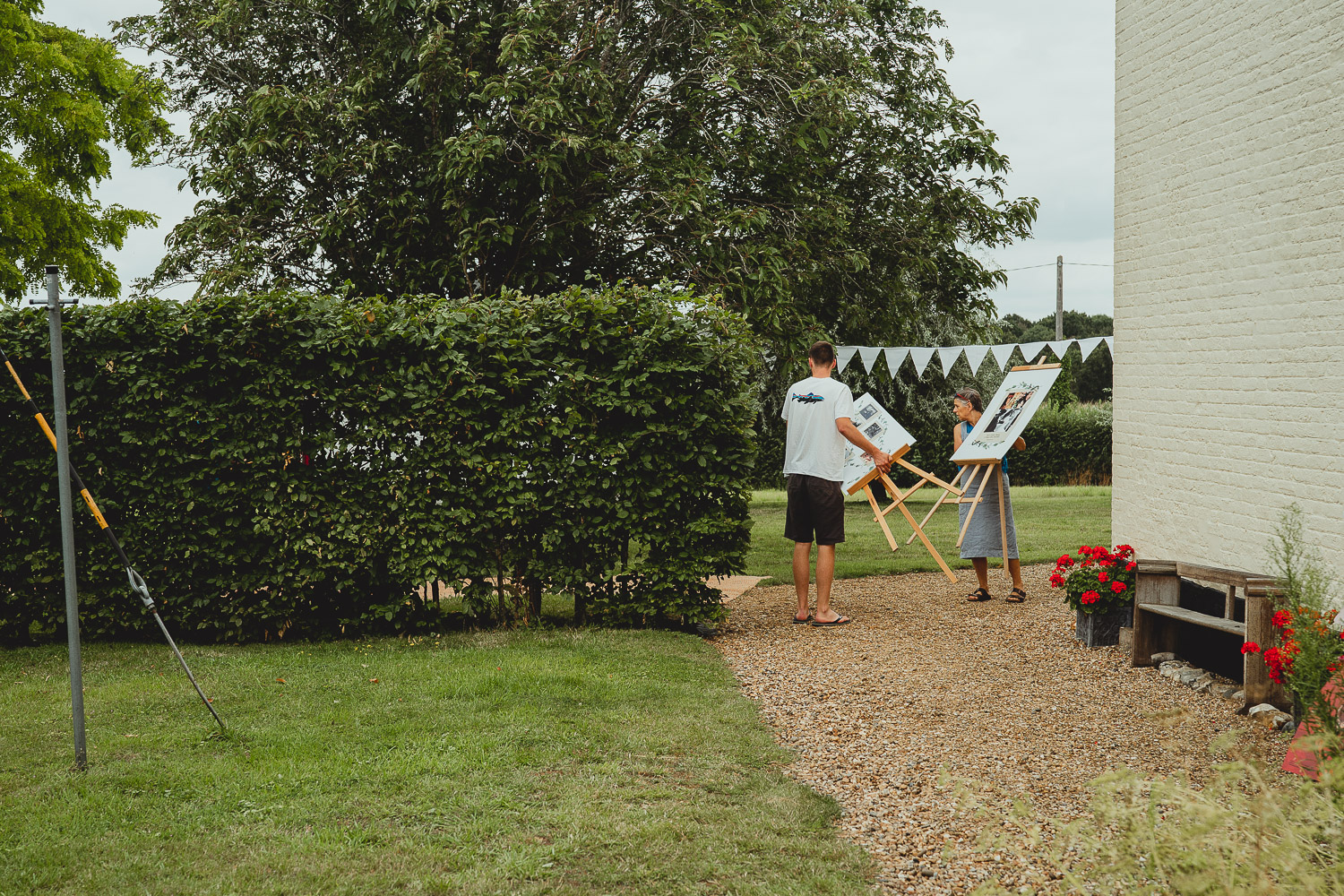 norfolk garden wedding by georgia rachael