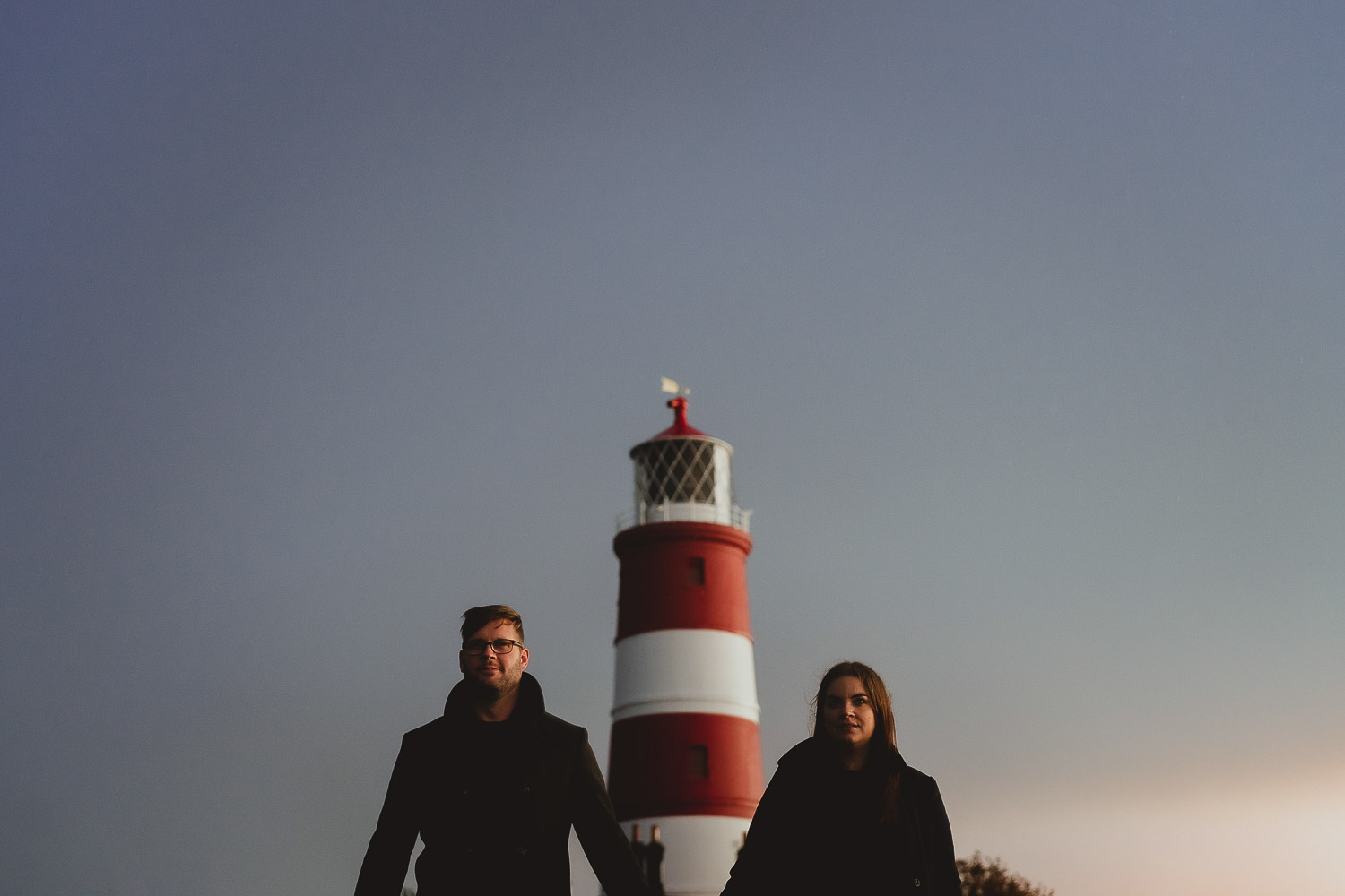 happisburgh lighthouse engagement session by georgia rachael