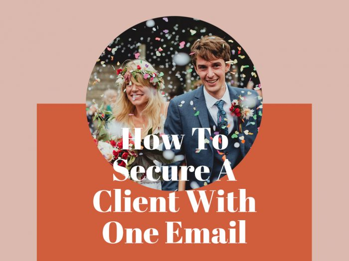 how to secure bookings in one email wedding photography