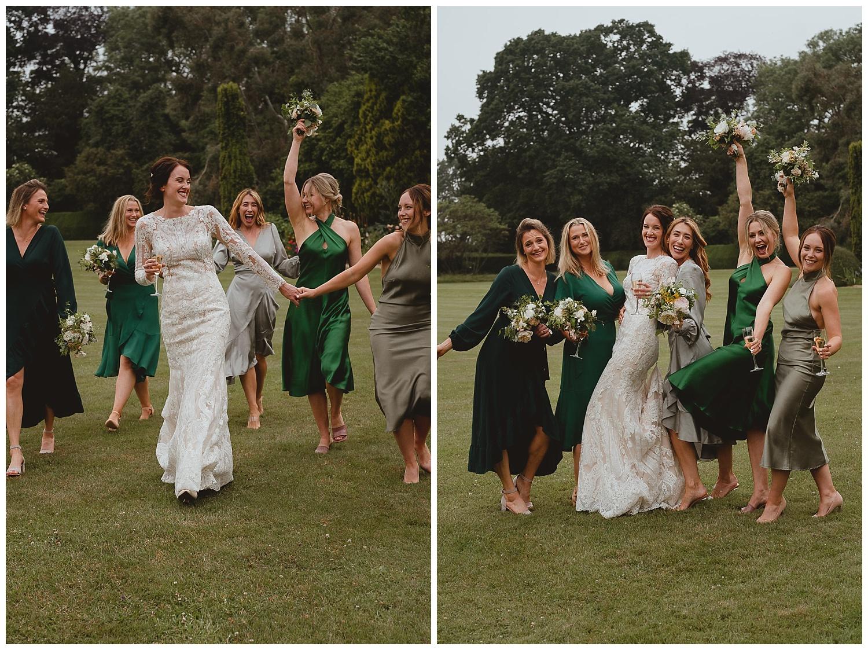 hengrave hall wedding suffolk bridesmaids